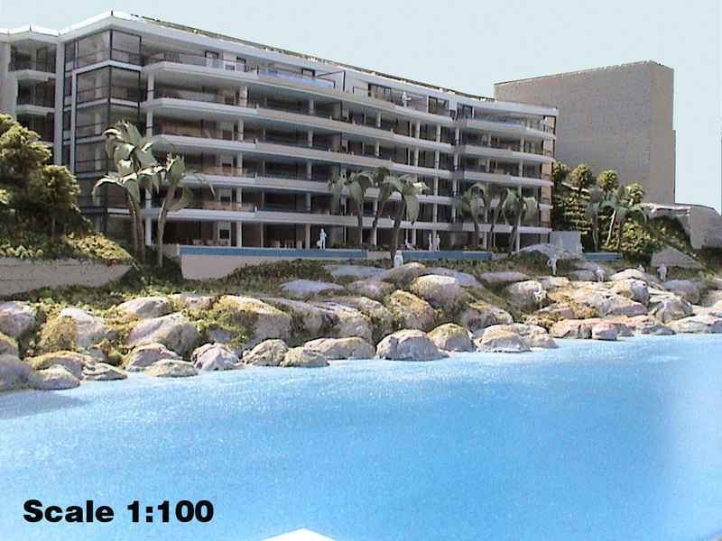 Scale 1-100 Bantry Bay Apartments, Cape Town