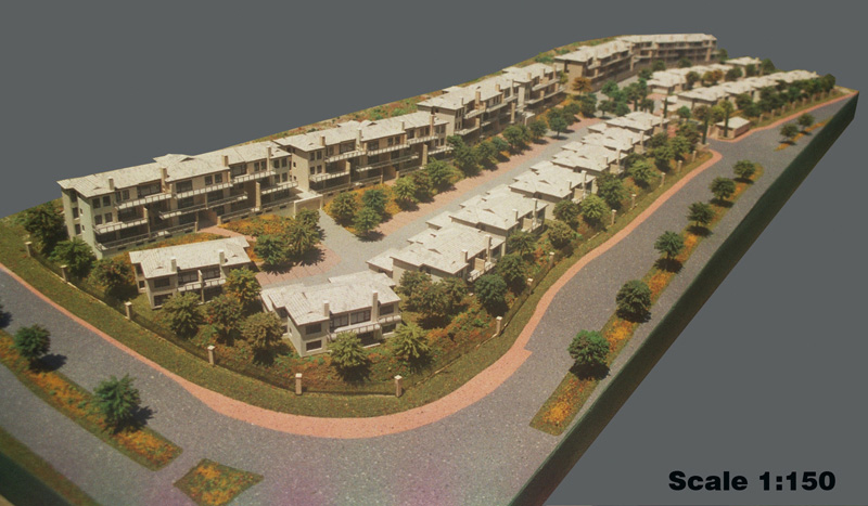 Scale 1-150 Group Housing Apartments, Bloubergstrand